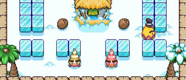 Bad Ice Cream Elige tu sabor de helado favorito y comienza el juego recogiendo todas las frutas de cada nivel mientras esquivas a los enemigos creando barreras de cubitos de hielo. bad ice cream